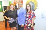 Sandra Abinader, Ricardo Cruz Arias y Sonia Paulino.