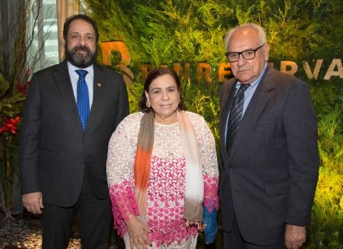 José Manuel Guzmán Ibarra, Mirna Pimentel y Napoleón Beras