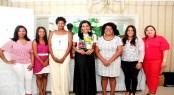 Dileny Evangelista, Shawell Peña, Yubelkis Mejía, Rosa Arredondo, Daniela Cruz, Lisbel Sánchez y Sinthia Sánchez.
