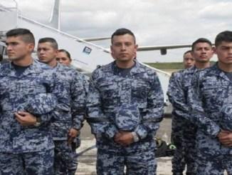 Los cadetes mexicanos fueron recibidos en la Fuera Aérea.