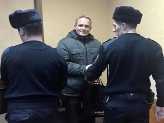 Christensen en los juzgados de Oriol, Rusia