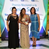 Yosarah Fernández, María Isabel Matos y Berenice Méndez