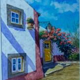 Lienzo que forma parte de la exposición del pintor portugués Rui Pinheiro