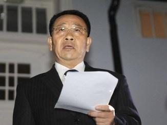 El jefe negociador norcoreano, Kim Myong-gil
