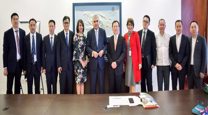 Comisión asiática que visitó MITUR.