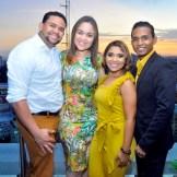 Jose Gil, Perla Acevedo, Yakayra Santana y Orlando Sosa.
