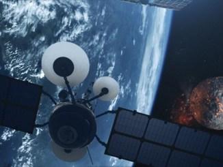 Una recreación gráfica de un satélite espía en órbita terrestre. (Getty Creative)