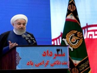 El presidente iraní Hassan Rohani criticó el acuerdo entre Emiratos Árabes Unidos e Israel (Iranian Presidency/dpa)