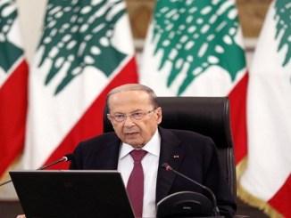 El presidente libanés Michel Aoun en Baabda el 25 de junio de 2020 (REUTERS/Mohamed Azakir)