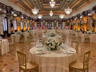 El almuerzo se realizó en el Salón Las Cariátides, del Palacio Nacional.