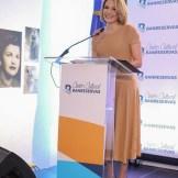 La presidenta del Voluntariado Banreservas, Noelia García de Pereyra, explicó la iniciativa del Centro Cultural Banreservas que celebra la vida de las heroínas de Salcedo.