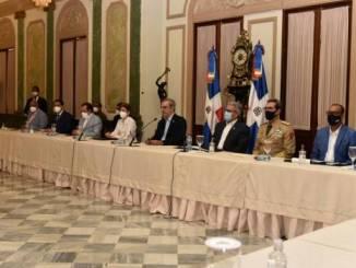 Reunión entre el COE y el presidente Luis Abinader