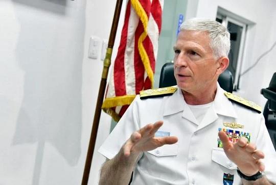 El jefe del Comando Sur de Estados Unidos, el almirante Craig Faller.