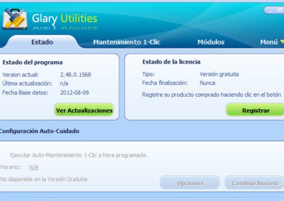 Glary Utilities - mantenimiento del ordenador