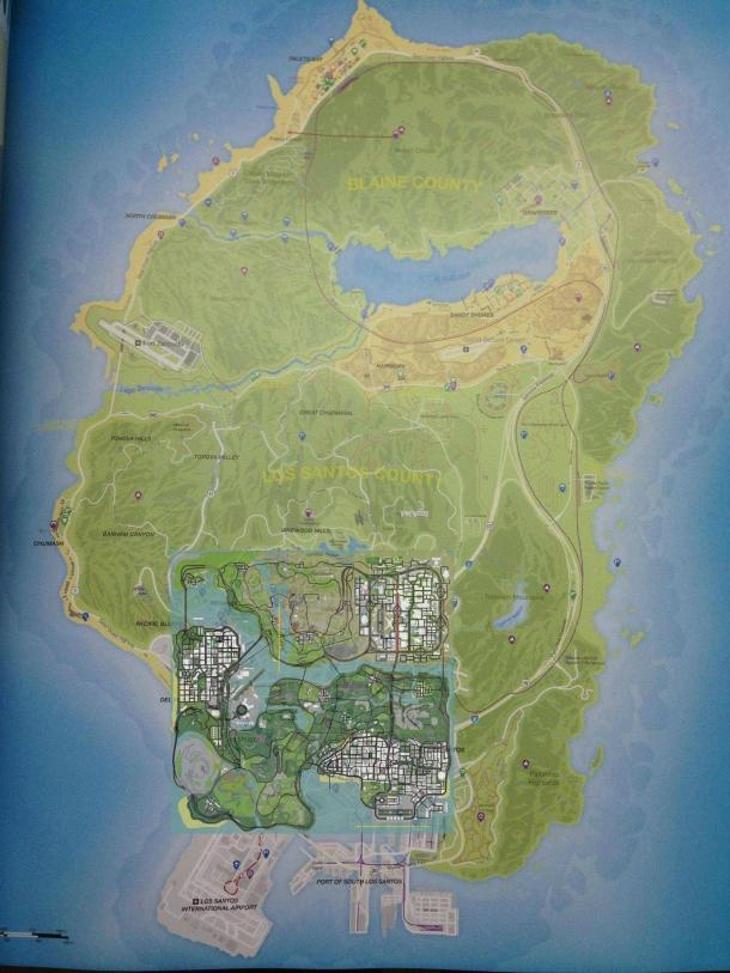 Comparación mapa GTA V vs mapa GTA SA