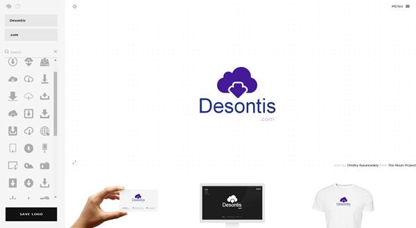 Desontis dot com - Squarespace logo panel