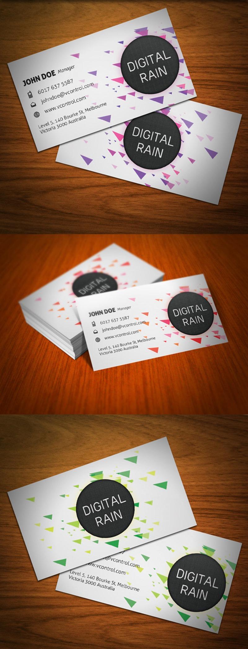 Digital Rain Business Card