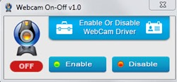 Webcam Drive on off