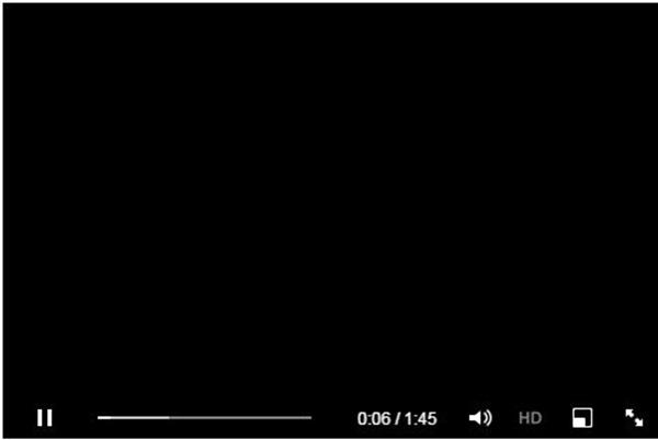 video en negro