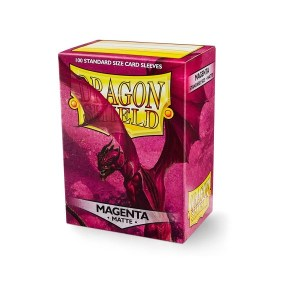 Sleeves Dragon Shield - Standard Matte Magenta (100 stuks)
