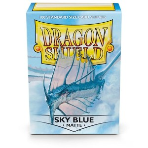 Sleeves Dragon Shield - Standard Matte Sky Blue (100 stuks)