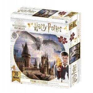 Hogwarts and Hedwig - 3D Image Puzzel (500)
