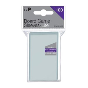 Ultra Pro Lite Board Game Sleeves: Mini European 44 x 68 mm (100 stuks)