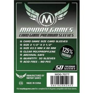 Mayday Card Sleeves Premium: 63.5 x 88 mm (50 stuks)
