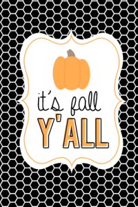 Free Fall Printable {freebie}