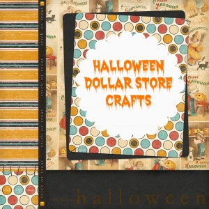 Halloween Themed Dollar Store Crafts {roundup}