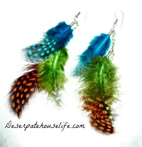 How to Make Feather Shoulder Duster Earrings {diy}