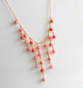 DIY Beaded Statement Necklace angled