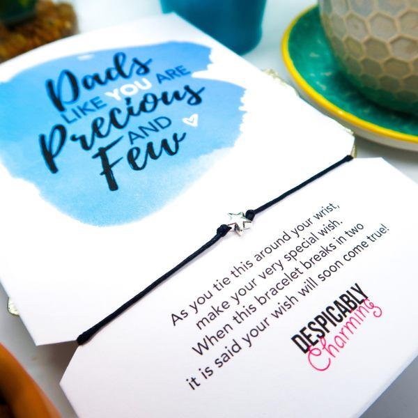 Dad Birthday Card with Wish Bracelet