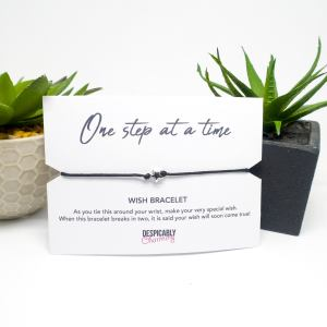One Step At A Time Wish Bracelet