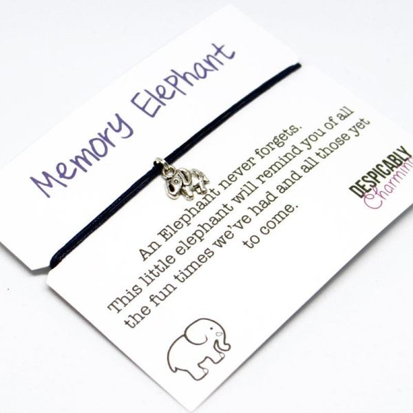 Set of 10 Memory Elephant Bracelets