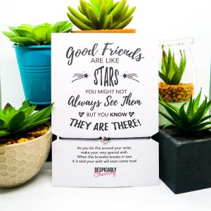 Good Friends Are Like Stars Wish Bracelet and Card