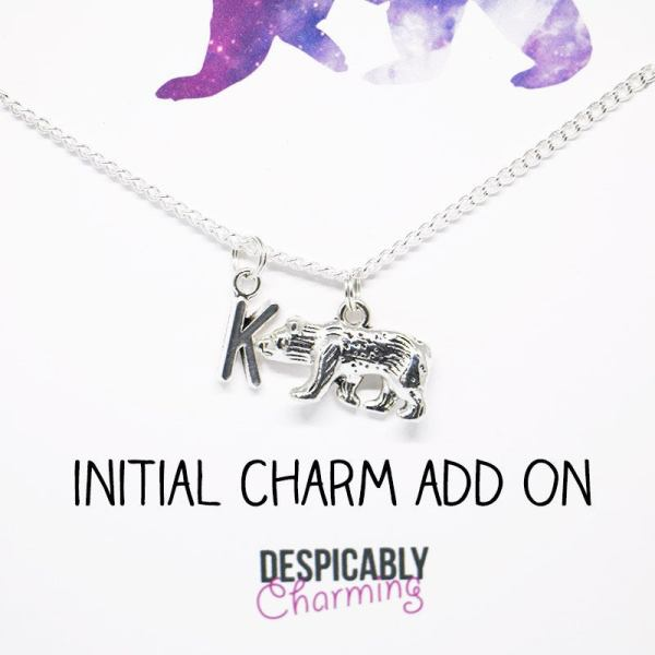 Initial charm add on - personalised jewellery