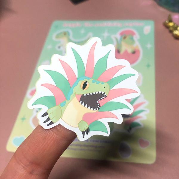 Kawaii Dinosaur Vinyl Sticker Sheet