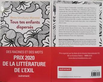 Beata Umubyeyi Mairesse pour son livre : Tous tes enfants dispersés