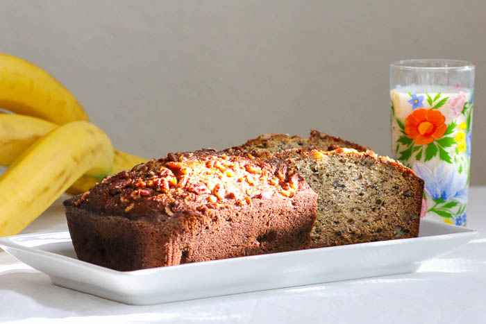 Desserts Required - Don't let brown bananas get you down.  Make Banana Bread with Pecans and everyone will be happy.  An easy and quick recipe with delicious results.