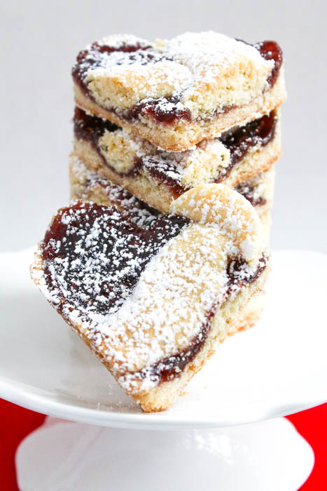 Linzer Hearts are delicious butter cookies topped with raspberry preserves and more dough. Cut into hearts for a delicious and easy Valentine's Day recipe.