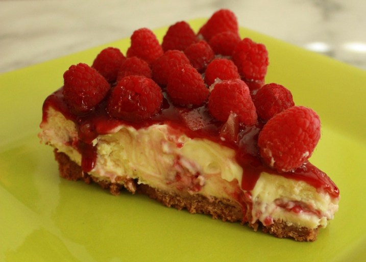 Raspberry Ginger Cheesecake