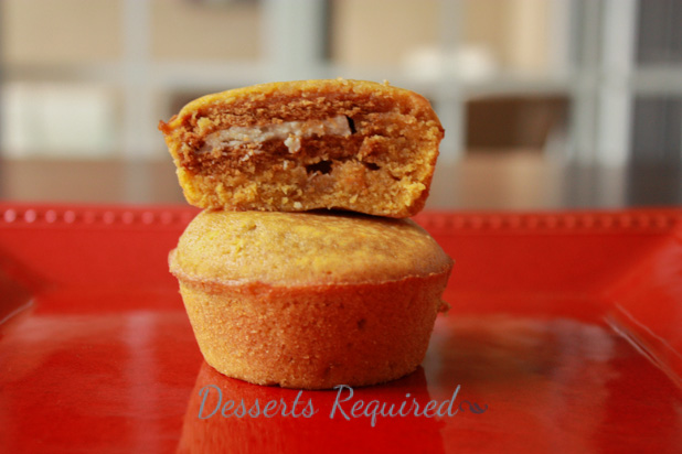 Desserts Required - Pumpkin Ginger-O Brownie Cups