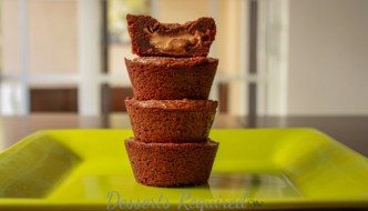Desserts Required - gooey chocolate peanut butter brownie cups