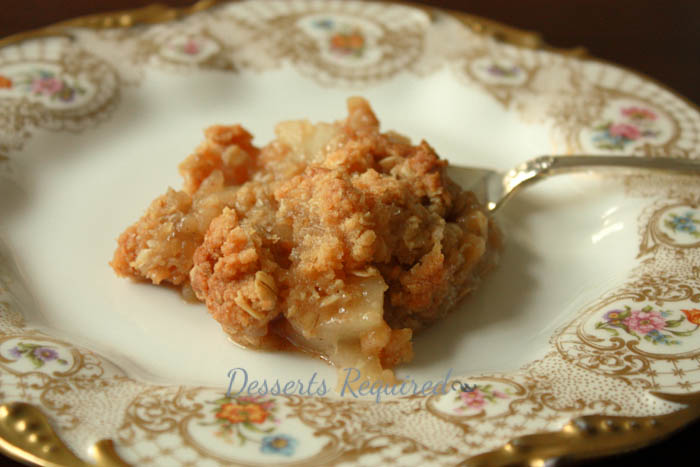 Desserts Required - apple pear crisp