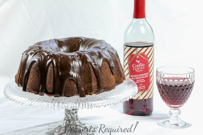 Fudgy Chocolate Berry Bundt Cake