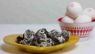 Chocolate Eggnog Truffles  #SafeNog