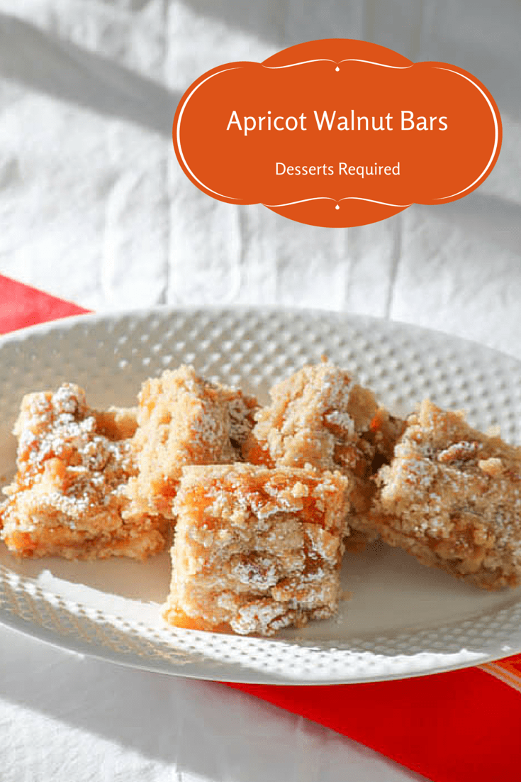 Desserts Required - Apricot Walnut Bars
