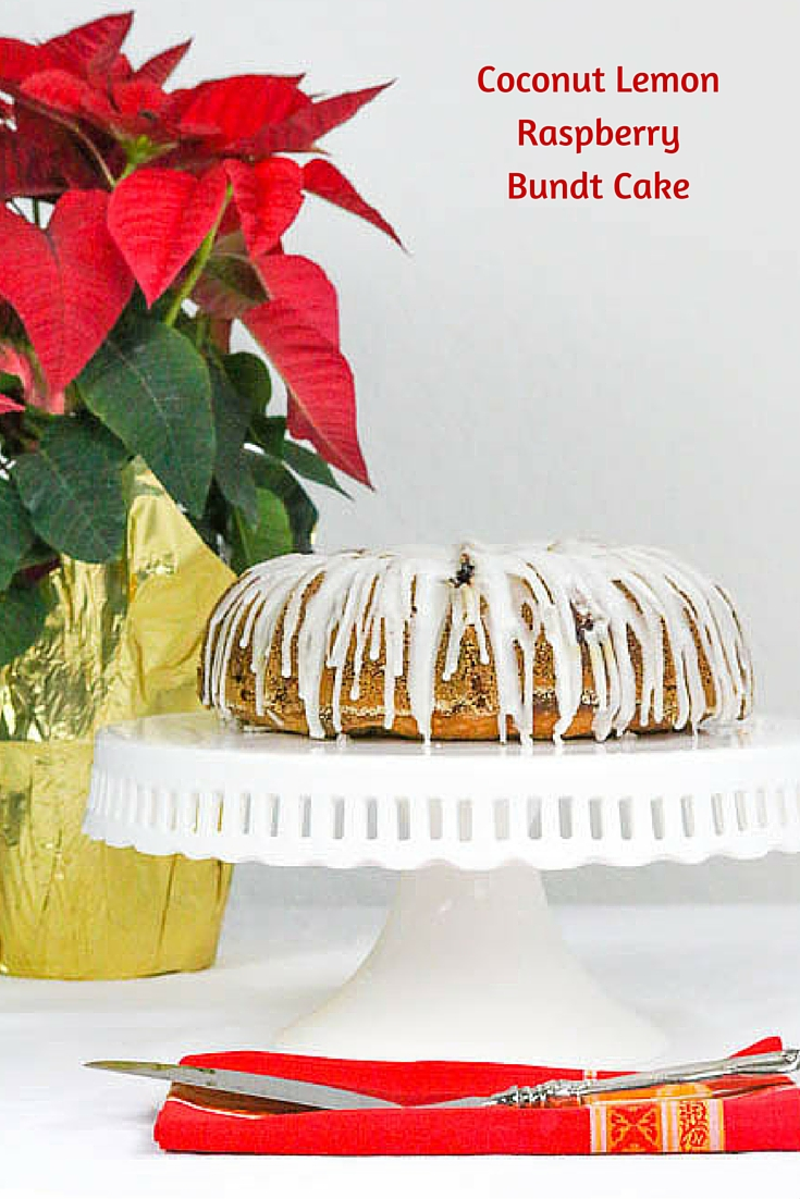 Coconut Lemon Raspberry Bundt Cake is an elegant cake that works beautifully in both a formal holiday setting and a casual get together.