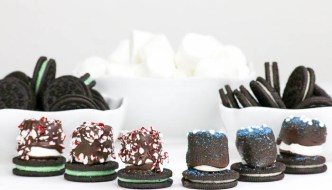 Holiday Marshmallow Oreo Hats and a Christmas Week Giveaway